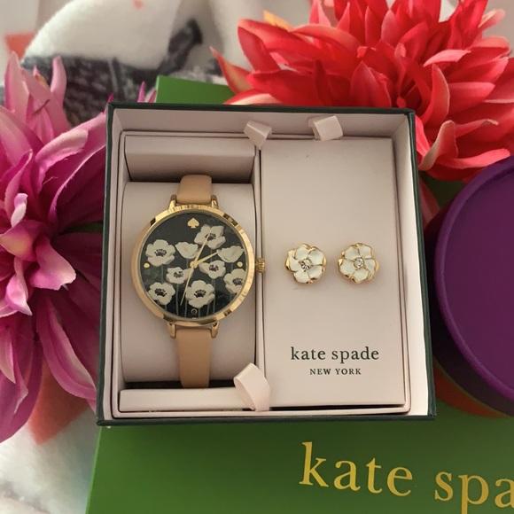 NWT! Kate Spade Watch & Earrings Set